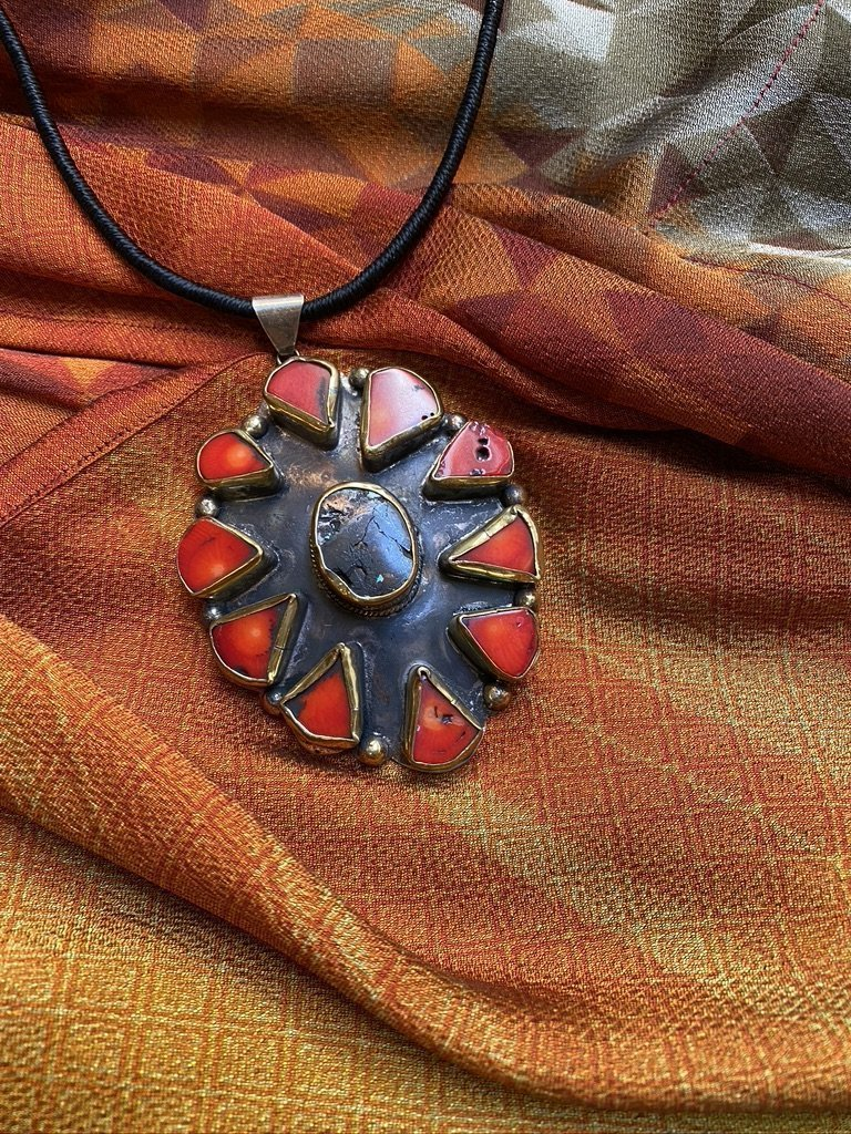 Black Turquoise Red Shield of Zena