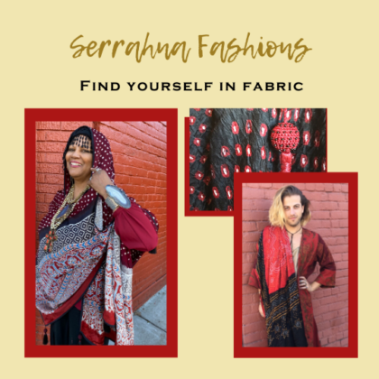 Find yourself in a lovely shawl or scarf at Serrahna shop scarves