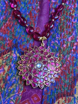 Rubellite with Indian Rubies