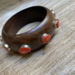 Red Coral Wood Bangle