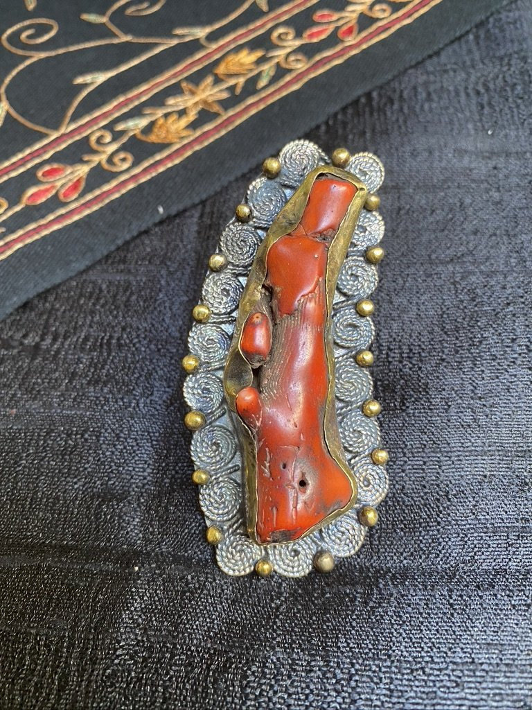 Large Coral ring